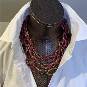Saks Fifth Ave 3 strand choker necklace
